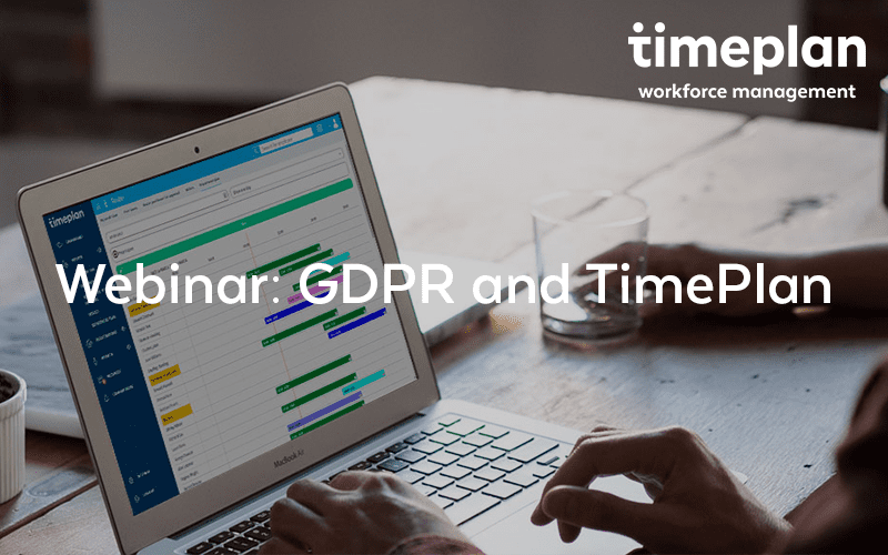 Webinar about GDPR and TimePlan